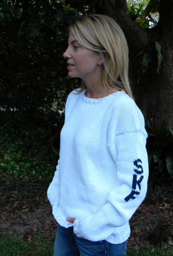 Woman's Initial Sweater - Sleeve